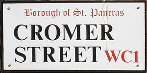 Metropolitan Borough of St Pancras - Older street sign