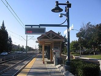 Cropley station - Cropley Station platform, 2012