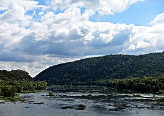Shenandoah River - Crossing the Shenandoah River in Harpers Ferry, West Virginia