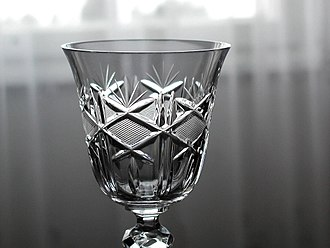 "Lead glass - A ""crystal"" glass object."