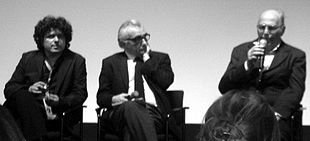 Da sinistra: Salvo Cuccia, Martin Scorsese e Vittorio De Seta al Tribeca Film Festival 2005