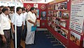 Cumbum P. Selvendran and other dignitaries watching the DAVP Exhibition at the Bharat Nirman Public Information Campaign that got off, at Theni, in Tamil Nadu on August 21, 2010.jpg
