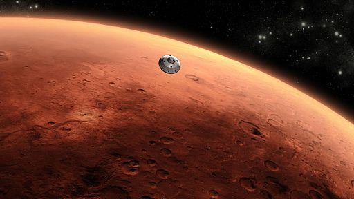 Curiosity Approaching Mars, Artist's Concept