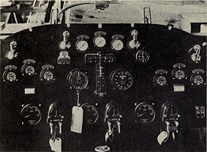 Curtiss NC - NC-3 instrument panel (center nacelle)