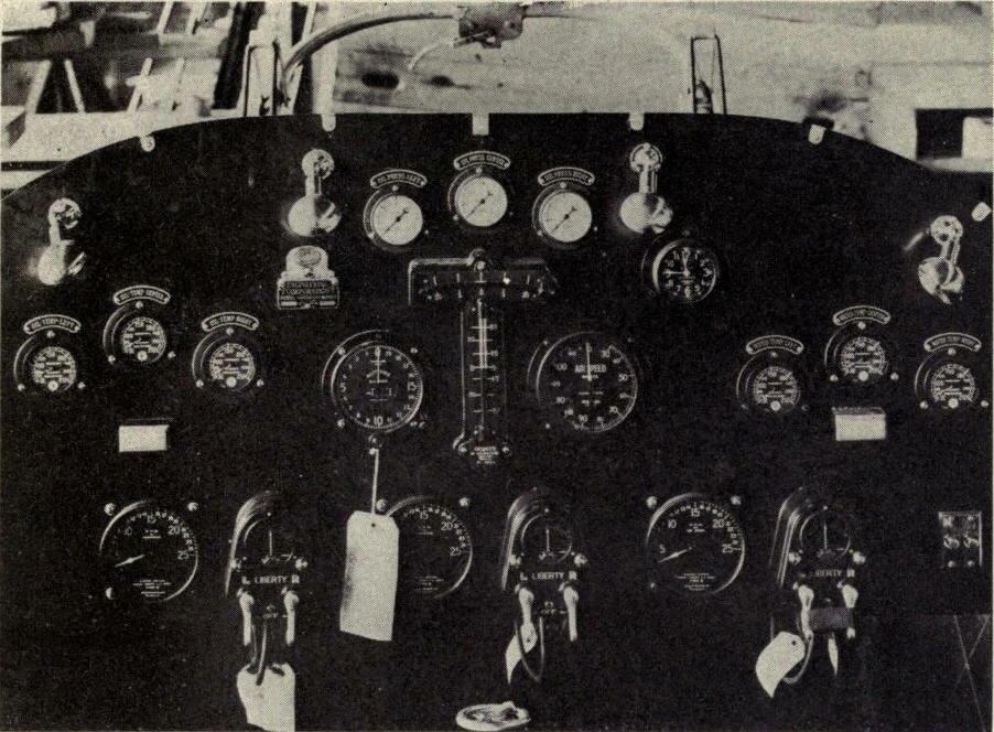 Curtiss NC-3 Instrument Panel (center nacelle)