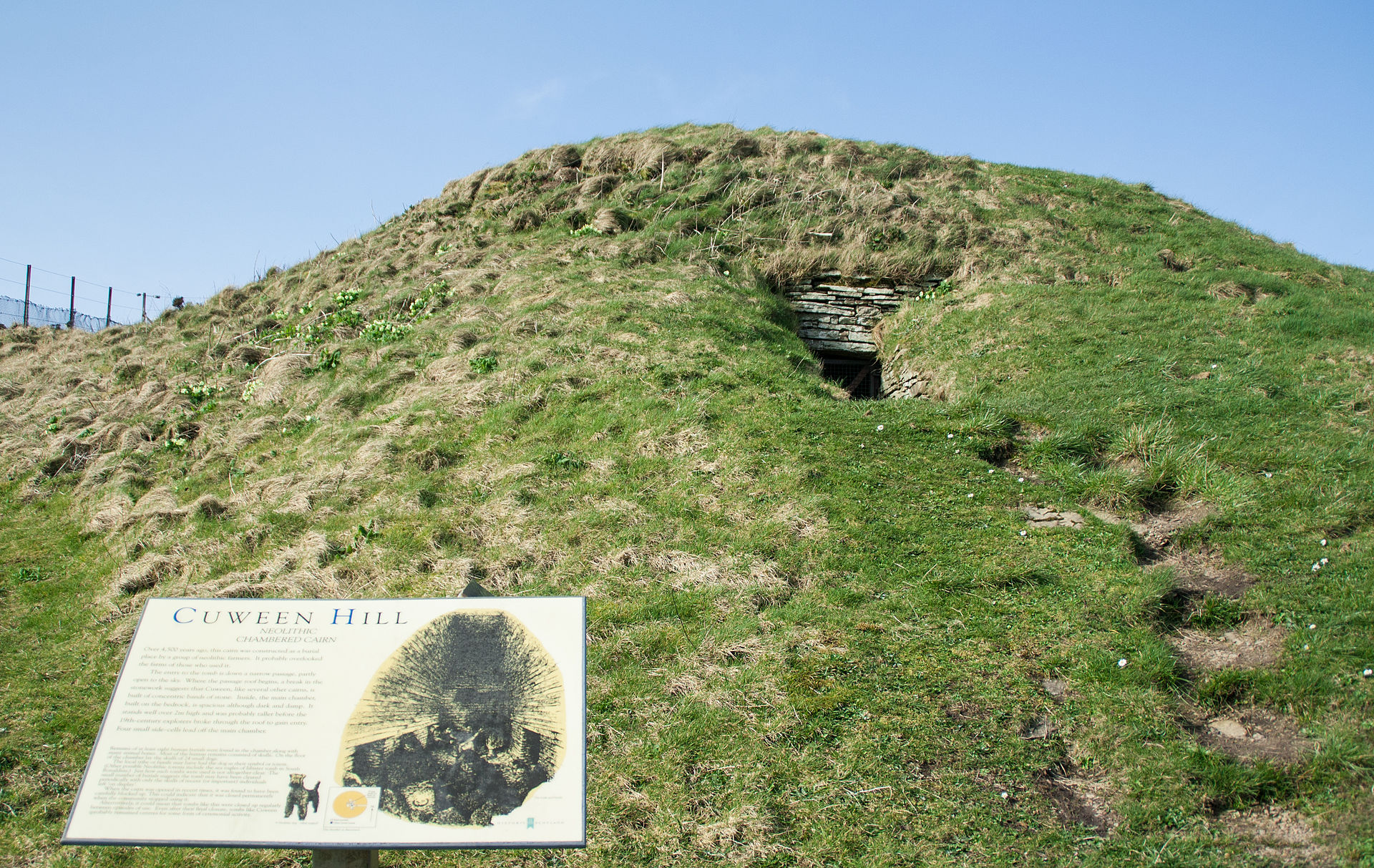 Cuween Hill Chambered Cairn Wikipedia