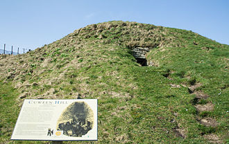 Cuween Hill Chambered Cairn - Cuween Hill, front external view