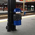 Częstochowa train station waste container 160709.jpg