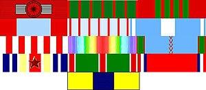 Théophile Marie Brébant - Image: Décorations militaires du colonel Théophile Marie Brébant