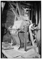 DETAIL OF MACHINE USED IN BAGGING PROCESS - Ketner Mill, East bank of Sequatchie River, Victoria, Marion County, TN HABS TENN,58-VICT.V,1-19.tif