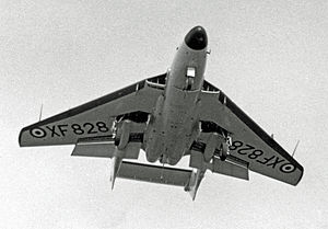 De Havilland Sea Vixen - The third semi-navalised prototype demonstrating at the 1955 Farnborough Air Show