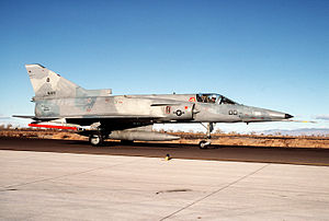 IAI Kfir - An F-21A Kfir of VF-43 preparing for takeoff at NAS Fallon, Nevada, USA