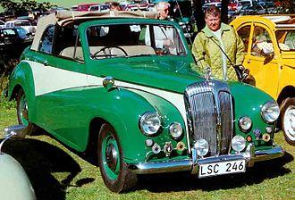 Daimler Conquest - 1954–1955 Daimler Conquest Century drophead coupé. Hood power-assisted from the de ville position shown.