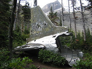 Aviation archaeology - The remains of a Royal Canadian Air Force DC-3 Dakota crashed on 19 January 1946.