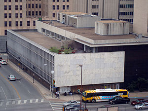 Dallas Public Library - The modern Dallas Public Library building opened in 1954 and included controversial artwork.