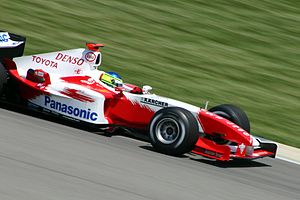 Cristiano da Matta - Da Matta driving for the Toyota team at the 2004 United States Grand Prix.