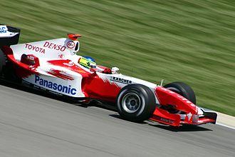 Cristiano da Matta - Da Matta driving for the Toyota team at the 2004 United States Grand Prix.