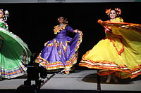 Dancing at the Wikimania 2015 Opening Ceremony IMG 7599.JPG