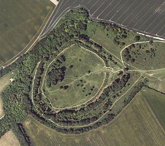 Hampshire - Danebury Fort - aerial image