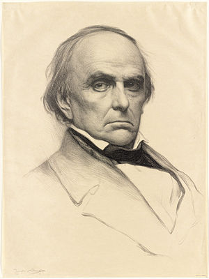 John Davis (Massachusetts governor) - Daniel Webster (1897 portrait print), with whom Davis feuded