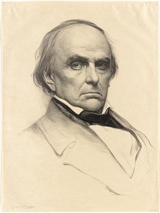 John Davis (Massachusetts governor) - Daniel Webster (1897 portrait print), with whom Davis feuded
