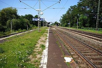 Darmstadt-Eberstadt - Train stop in Darmstadt-Eberstadt