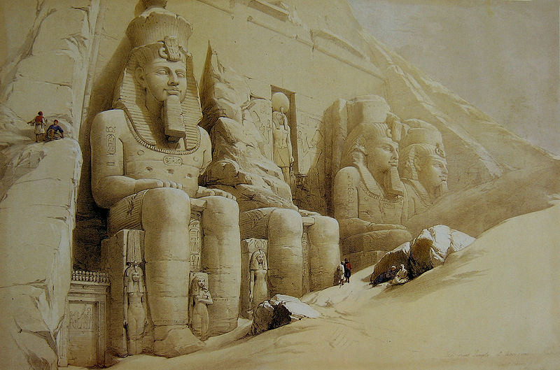 File:David Roberts Great Temple Aboo Simbel.jpg