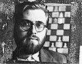 De Deen Larsen, koploper in het Hoogovenschaaktoernooi, Bestanddeelnr 911-9909.jpg