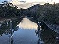 De Isuzu stroomopwaarts gezien vanaf de Uji-brug bij Kōtai-jingū, -4 januari 2019.jpg
