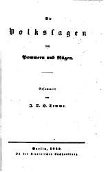 Die Volkssagen von Pommern und Rügen.