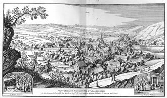 "Spa, Belgium - Spa 1647 in ""De merian Westphaliae"""