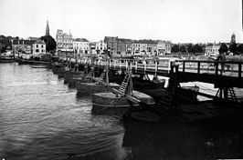 De schipbrug in 1934