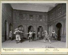 De tre musketörerna, Svenska teatern 1900. Föreställningsbild - SMV - H10 067.tif