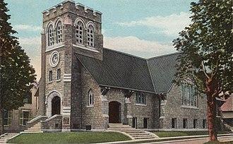 Sidney Badgley - Image: Deering Memorial Church, South Paris, ME