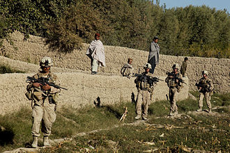 Fireteam - US Marines on patrol in Afghanistan, 2009.