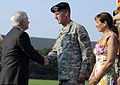 Defense.gov News Photo 100723-F-6655M-009 - Secretary of Defense Robert M. Gates left congratulates Gen. Stanley McChrystal with is wife Annie after awarding him the Distinguished Service.jpg