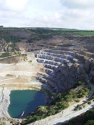 Slate industry - Delabole slate quarry in Cornwall