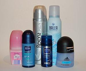 verschiedene Deodorants