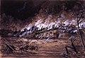 Descarrilamiento de un ferrocarril en un puente, 8.7.1904, RABASF, painting by Mariano Pedrero.jpg