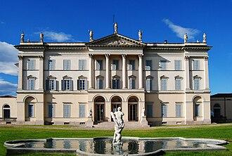 Italian Neoclassical architecture - Image: Desio villa Tittoni Traversi vista