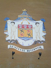 Coat of arms seen on the city hall