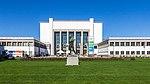 Deutsches Hygienemuseum, mit Plastik Ballwerfer von Richard Daniel Fabricius-9716.jpg