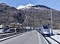 Deux TGV pour le Nord et l'Ouest à Bourg-St-Maurice (hiver 2019).JPG