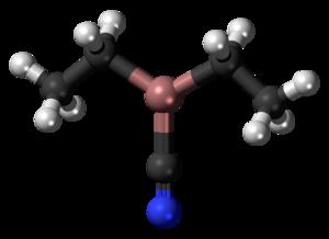 Diethylaluminium cyanide - Image: Diethylaluminium cyanide 3D balls