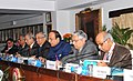 Dinesh Trivedi addressing after receiving the report of the High Level Safety Review Committee, constituted by the Ministry of Railways under the Chairmanship of Dr. Anil Kakodkar, in New Delhi. The Chairman, Railway Board.jpg