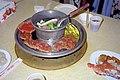 Dinner in buffet style at the Jiatianxia Restaurant in Taipei 19970330.jpg