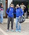 Dino Morea and Bunty Walia depart for All Stars Football match in Delhi.jpg