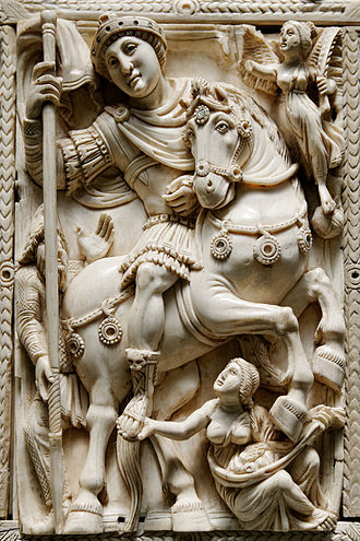 Barberini ivory - The triumphant emperor on the central panel