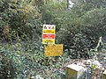 Dire warnings in Brown's Coppice - geograph.org.uk - 582328.jpg