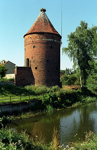 Battle of Guttstadt-Deppen - The Stork Tower (Baszta Bociania) in Dobre Miasto.